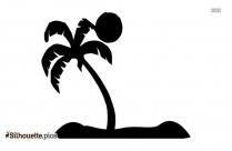 Palm Tree Beach Silhouette Clipart