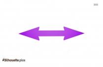 Double Arrow Symbol Silhouette Clipart