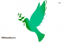 Dove Flying With Olive Branch Clipart