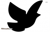 Black And White Cartoon Bird Silhouette