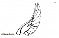 Angel Wing Silhouette Background