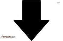Down Arrow Silhouette Image