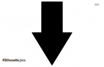 Picture Of An Arrow Pointing Down Silhouette
