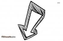 45 Degree Angle Arrow Silhouette Clip Art