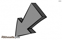 Down Arrow Vector Silhouette Free