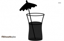 Tropical Drink Silhouette Free Vector Art