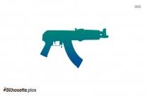 Machine Gun Silhouette Vector And Graphics