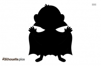 Dracula Cartoon Silhouette Vector Art