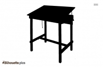 Black Center Table Silhouette Image