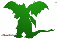 Flying Dragon Silhouette Vector And Graphics
