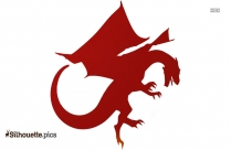 Dragon Tattoo Design Clip Art Silhouette