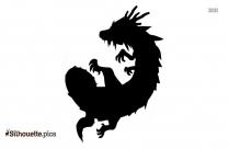Cartoon Cute Dragon Image Silhouette