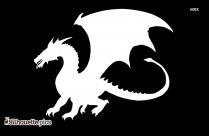 Fire Breathing Dragon Silhouette