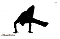 Yoga Easy Pose Silhouette Clip Art
