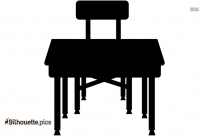 Round Table Silhouette Illustration