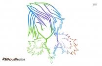 Hawk Tribal Design Image Silhouette