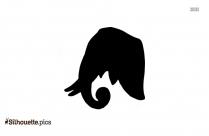 Cartoon Elephant Silhouette Clipart Image