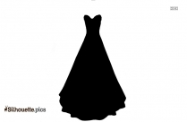 Lace Petticoat Silhouette Free Vector Art