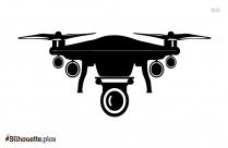 Drone Camera Vector Silhouette