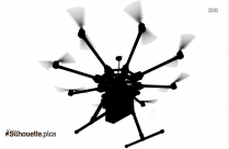 Beautiful Drone Silhouette Vector Png