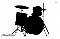 Drum Kit Silhouette Clip Art