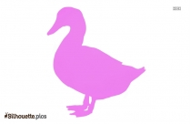 Duck Cartoon Side View Silhouette Free Vector Art