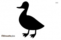 Standing Duck Silhouette