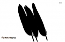 Duck Feathers Quills Silhouette