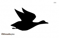 Flying Duck Clipart Silhouette