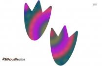 Duck Footprint Silhouette