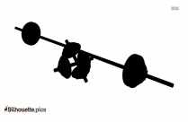 Dumbbell And Barbell Silhouette Clipart