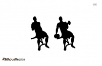Dumbbell Curls Silhouette Illustration