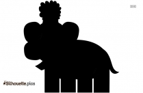 Boy Elephant Silhouette Vector And Graphics