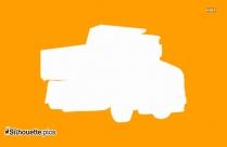 Dump Truck Silhouette Illustration
