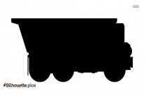 Dump Truck Silhouette Vector