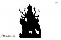 Durga Matha Silhouette