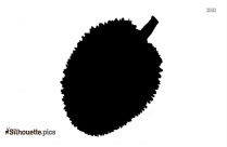 Black And White Durian Fruit Silhouette