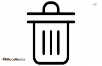 Dust Bin Logo Silhouette For Download