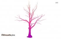 Creepy Tree Silhouette Background