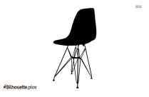 Saucer Chair Silhouette Clip Art