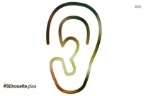Ear Outline Silhouette Illustration