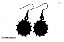 Hoop Earrings Silhouette Drawing
