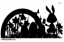Cute Easter Rabbit Silhouette Illustration