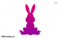 Rabbit Face Silhouette Image And Vector