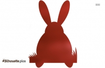 Bunny Silhouette Free Vector Art