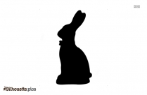 Easter Bunny Vector Silhouette Clipart Download