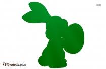 Bunny Cartoon Transparent Silhouette Background