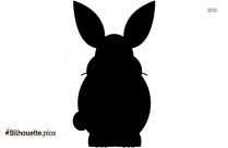 Rabbit Face Silhouette Illustration