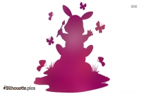 Easter Bunny Rabbit Silhouette Vector And Graphics