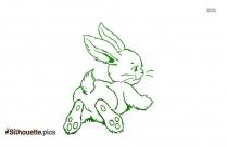 Cute Bunny Clip Art Silhouette